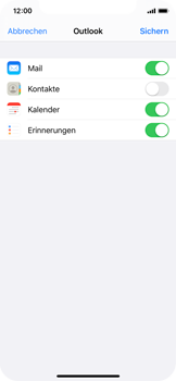 Apple iPhone X - iOS 13 - E-Mail - 032c. Email wizard - Outlook - Schritt 8