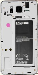 Samsung G850F Galaxy Alpha - Primeros pasos - Quitar y colocar la batería - Paso 3