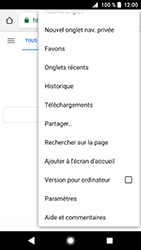 Sony Xperia XZ Premium - Android Oreo - Internet - navigation sur Internet - Étape 20