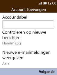 Nokia 8110 - E-mail - Account instellen (IMAP met SMTP-verificatie) - Stap 14