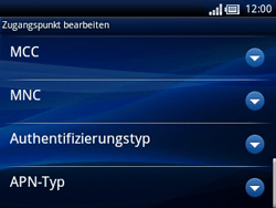 Sony Ericsson Xperia X10 Mini Pro - Internet - Manuelle Konfiguration - Schritt 12