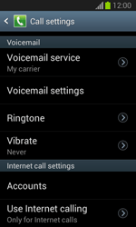 Samsung S7390 Galaxy Trend Lite - Voicemail - Manual configuration - Step 6