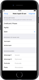 Apple iPhone 8 - iOS 12 - Applicaties - Account aanmaken - Stap 15