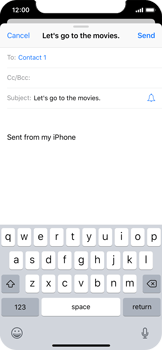 Apple iPhone X - E-mail - Sending emails - Step 7