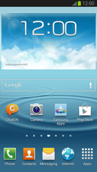 Samsung Galaxy S III - Getting started - Installing widgets and applications on your start screen - Step 1