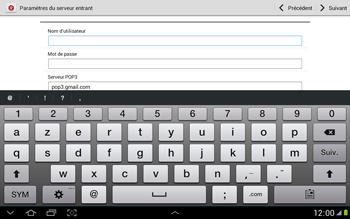 Samsung N8000 Galaxy Note 10-1 - E-mail - Configuration manuelle - Étape 7
