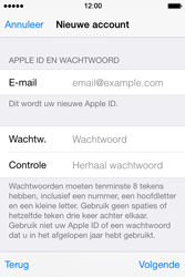 Apple iPhone 4S (iOS 8) - apps - account instellen - stap 13