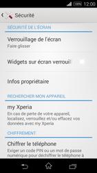 Sony Xpéria E3 - Sécuriser votre mobile - Activer le code de verrouillage - Étape 5