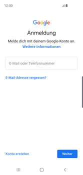Samsung Galaxy S10e - Apps - Konto anlegen und einrichten - Schritt 5