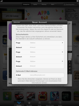 Apple iPad mini - Apps - Konto anlegen und einrichten - 13 / 21
