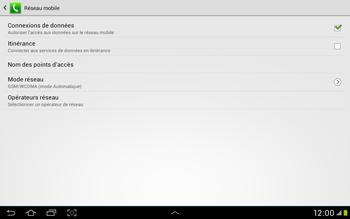 Samsung Galaxy Tab 2 10.1 - Réseau - Sélection manuelle du réseau - Étape 6