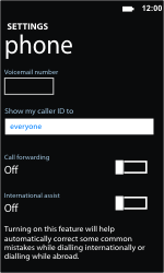 Nokia Lumia 710 - Voicemail - Manual configuration - Step 6