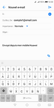 Huawei Y6 (2018) - E-mails - Envoyer un e-mail - Étape 4