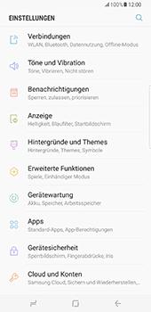 Samsung Galaxy S8 Plus - Datenschutz und Sicherheit - Kontakte, E-Mail und Fotos mit Gmail synchronisieren - 4 / 10