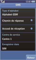 Samsung S8500 Wave - SMS - Configuration manuelle - Étape 6