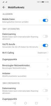 Huawei P20 Pro - Android Pie - Internet und Datenroaming - Deaktivieren von Datenroaming - Schritt 6