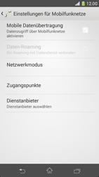 Sony Xperia Z1 - Internet und Datenroaming - Prüfen, ob Datenkonnektivität aktiviert ist - Schritt 6