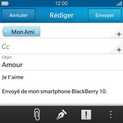 BlackBerry Q10 - E-mails - Envoyer un e-mail - Étape 11