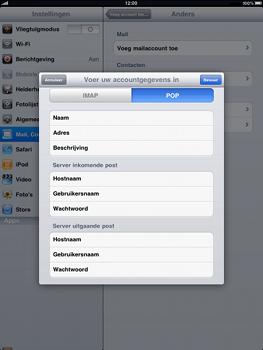 Apple iPad - E-mail - handmatig instellen - Stap 7