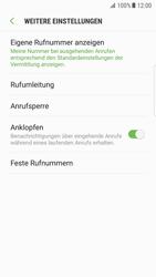 Samsung Galaxy S7 Edge (G935F) - Android Nougat - Anrufe - Rufumleitungen setzen und löschen - Schritt 7