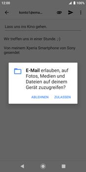 Sony Xperia XZ2 - Android Pie - E-Mail - E-Mail versenden - Schritt 11