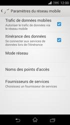 Sony Xpéria E3 - Aller plus loin - Désactiver les données à l'étranger - Étape 6