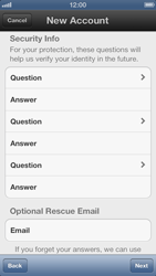 Apple iPhone 5 - Applications - Create an account - Step 9