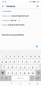 Huawei P20 Lite - Email - Sending an email message - Step 8
