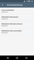 Sony Xperia X (F5121) - Android Nougat - Anrufe - Rufumleitungen setzen und löschen - Schritt 6