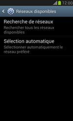 Samsung Galaxy S III Mini - Réseau - Sélection manuelle du réseau - Étape 7
