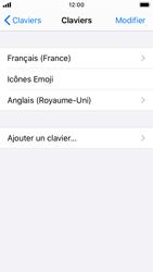 Apple iPhone SE - iOS 13 - Prise en main - Comment ajouter une langue de clavier - Étape 8