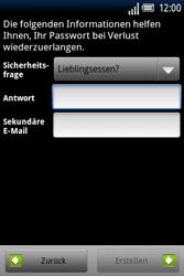 Sony Ericsson Xperia X8 - Apps - Konto anlegen und einrichten - Schritt 11