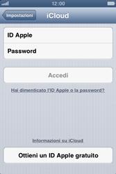 Apple iPhone 4 - Applicazioni - Configurazione del servizio Apple iCloud - Fase 5