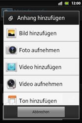 Sony Xperia Go - MMS - Erstellen und senden - 15 / 19