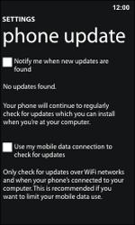 Nokia Lumia 800 / Lumia 900 - Software - Installing software updates - Step 6