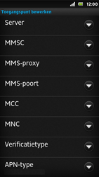 Sony ST25i Xperia U - MMS - Handmatig instellen - Stap 12