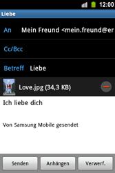 Samsung Galaxy Ace - E-Mail - E-Mail versenden - 13 / 15