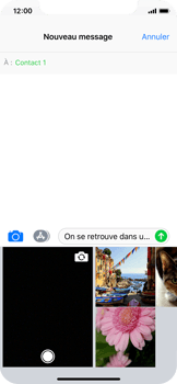 Apple iPhone X - Contact, Appels, SMS/MMS - Envoyer un MMS - Étape 10