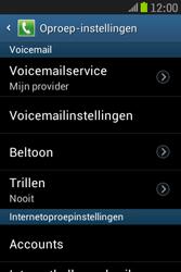 Samsung S6310 Galaxy Young - Voicemail - handmatig instellen - Stap 7