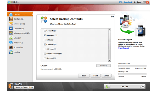 Huawei Ascend P6 - Software - How to make a backup of your device - Step 6