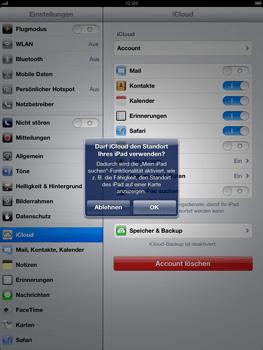 Apple iPad Retina iOS 7 - Apps - Konfigurieren des Apple iCloud-Dienstes - Schritt 9
