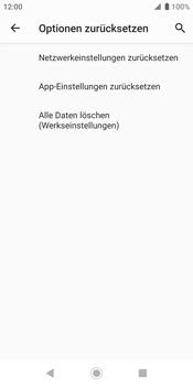 Sony Xperia XZ2 - Android Pie - Fehlerbehebung - Handy zurücksetzen - Schritt 9