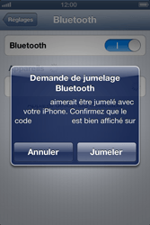 Apple iPhone 4 - iOS 6 - Bluetooth - connexion Bluetooth - Étape 8