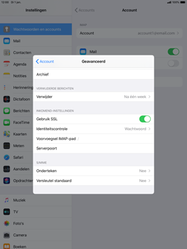 Apple ipad-air-10-5-inch-2019-model-a2123-ipados-13 - E-mail - Account instellen (IMAP zonder SMTP-verificatie) - Stap 24