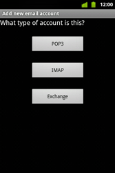 Alcatel OT-983 - E-mail - Manual configuration - Step 11