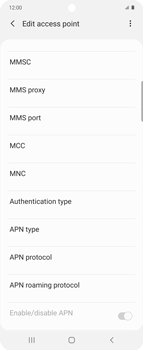Samsung Galaxy Z flip - Internet and data roaming - Manual configuration - Step 12