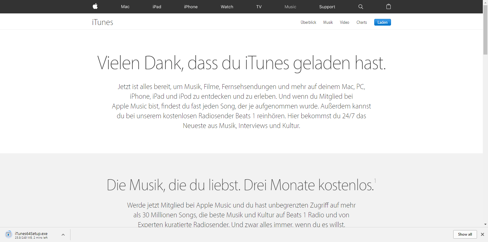 Apple iPhone 6 - Apps - iTunes installieren - 3 / 11
