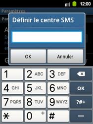 Samsung S5360 Galaxy Y - SMS - configuration manuelle - Étape 5