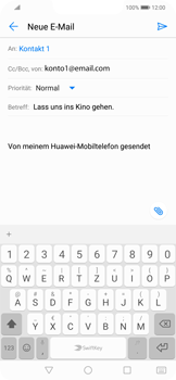 Huawei Mate 20 Lite - E-Mail - E-Mail versenden - 9 / 18