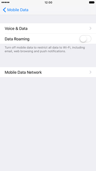 Apple Apple iPhone 6s Plus iOS 10 - Internet - Disable data roaming - Step 6